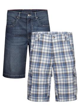 Шорты-бермуды, 2 пары джинсовых шорт-бермуд и бермуды карго