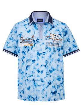 Рубашка-поло с принтом в стиле батик