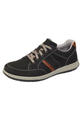 Туфли на шнуровке с контрастной строчкой