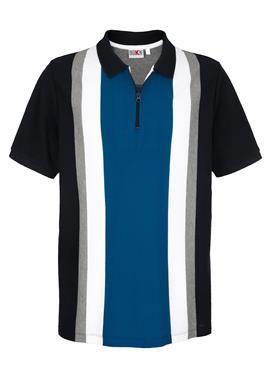 Рубашка-поло с узором в полоску, окрашенную пряжей