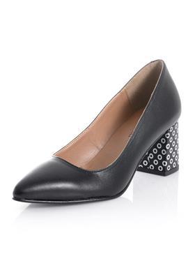 Туфли на каблуке с принтом