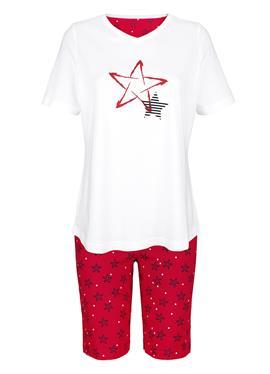 Короткая пижама с platziertem Druckmotiv