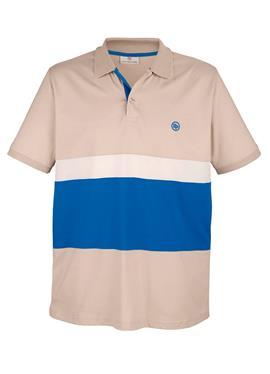 Рубашка-поло с контрастными вставками