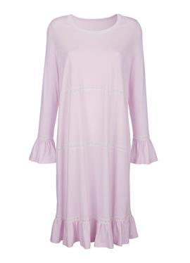 Ночная рубашка с романтическими оборками и кружевом