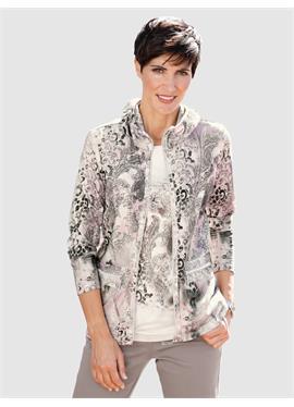 Куртка-рубашка с присборенным воротником-стойкой