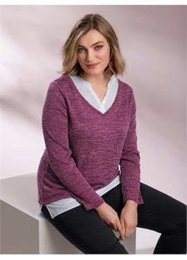 Рубашка 2-в-1 меланжевого качества