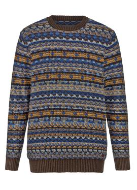 Фактурный вязаный свитер