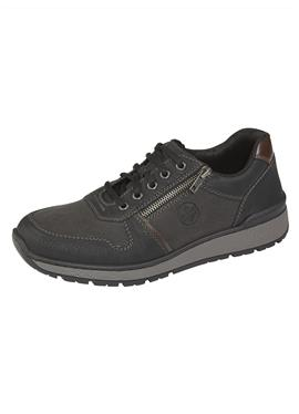 Обувь на шнуровке с дополнительной молнией
