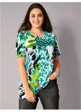 Блузка с buntem Alloverdruck