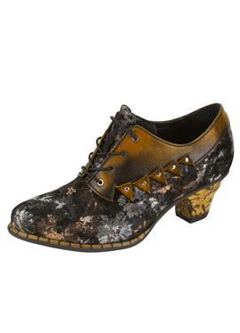 Туфли-лодочки на шнуровке в поношенном виде