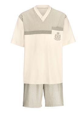 Короткая пижама aus farbig gewachsener Baumwolle