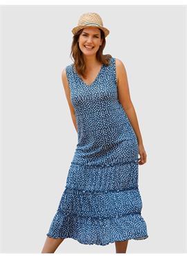 Пляжное платье с рисунком в горошек