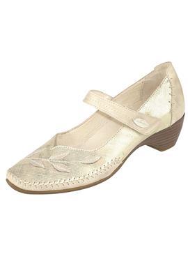 Туфли-лодочки с пряжкой и великолепными декоративными швами