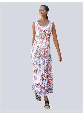 Пляжное платье в морском дизайне
