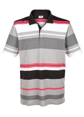 Рубашка поло с узором в полоску, окрашенную пряжей