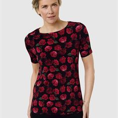 Рубашка с принтом блестящей цветной розы