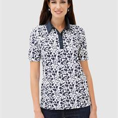 Рубашка поло с модным принтом