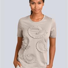 Блузка в glänzender Baumwoll-Qualität