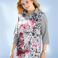 Рубашка-поло с нанесенным принтом спереди