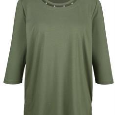 Рубашка с жемчужным декором на шее