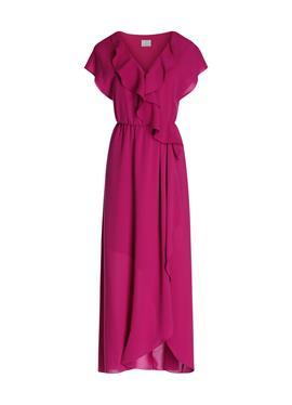 Длинное летнее платье с высоким разрезом