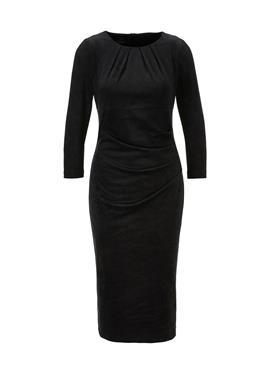Платье-футляр из искусственной замши