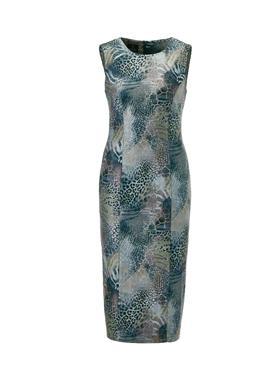 Облегающее платье с анималистическим принтом
