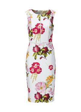 Без рукавов Etui-Kleid с Blüten-Druck