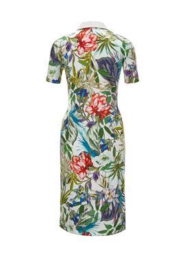 Bedrucktes платье-поло в elastischer Scuba-Qualität