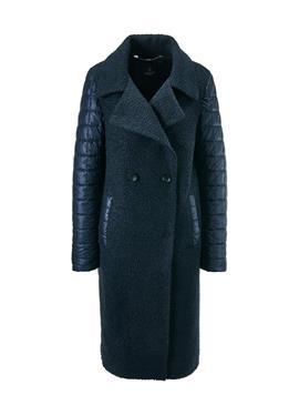 Doppelreihiger пальто im Material-Mix