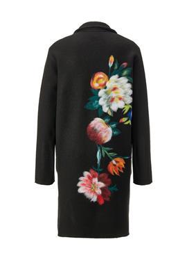 Пальто из шерсти с Blüten-Stickerei