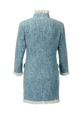 Tweed-Gehrock mit Fransen-Abschlüssen