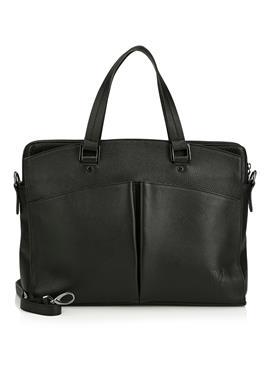 Кожаная сумка с отделением для ноутбука