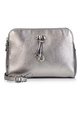 Кожаная сумка с блестящим покрытием
