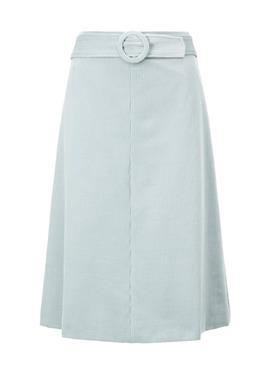 Слегка расклешенная юбка из корда с монтажным поясом