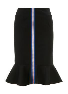 Schmaler юбка с Volant und Zierstreifen