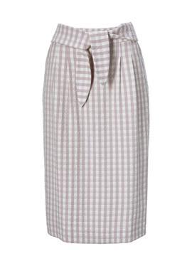 Клетчатая юбка в Seersucker-Qualität