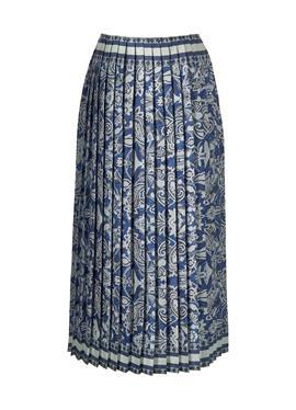 Плиссированная юбка с frischem Porzellanprint