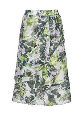 Ausgestellter юбка с Palmenprint und Volants