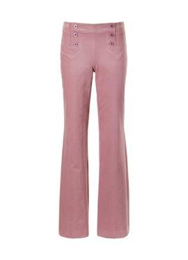 Вельветовые брюки с завышенной талией