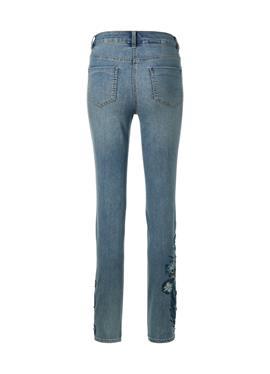 Schlanke джинсы с вышивка und Ziersteinen
