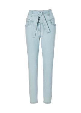 Highwaist-Jeans mit Bindeband