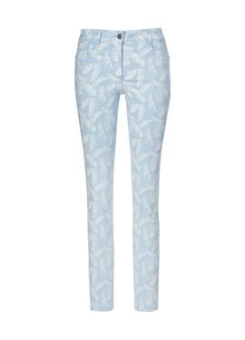 Bedruckte Five-Pocket-Jeans