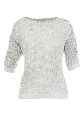Вязаный свитер из ленточной пряжи