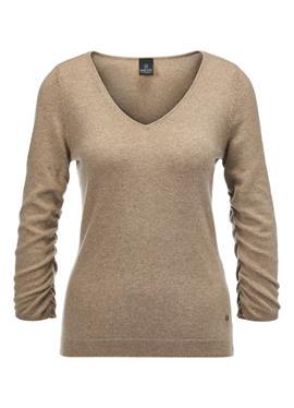 Кашемировый пуловер c v образным воротом