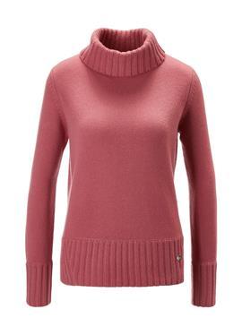Пуловер с воротником-стойкой из 100% кашемира