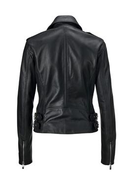 Biker-Jacke aus Lammnappa-Leder