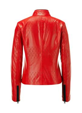 Perforierte кожаная куртка