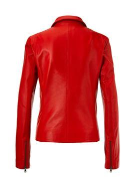 Кожаная куртка с kunstvollen Flechtpartien