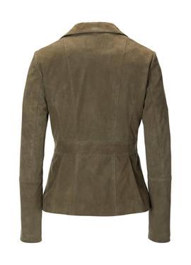 Blazer-Jacke aus weichem Ziegenvelours-Leder